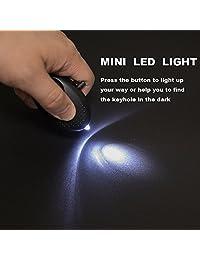 Alarma Personal, hnbyfs 120 db defensa personal con linterna LED de alarma de seguridad de emergencia, portátil llavero alarma de seguridad para mujeres niñas Ancianos seguridad paquete de 2 pcs