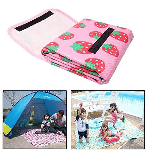 Coperta da picnic portatile impermeabile per stuoie da campeggio Coperta da gioco per bambini modello LLP Strawberry   Pad strisciante per neonato   Tappetino da spiaggia Tappetino per picnic all'aper