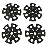 4pcs Replacement Rubber Snow Basket Snowflake Disk for Hiking Trekking Poles - Black