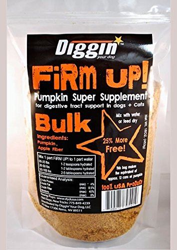 Diggin' Your Dog Firm Up! Pumpkin 1 pound Bag 4 BAGS by Diggin' Your Dog (Image #1)
