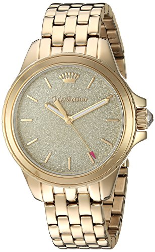 Juicy Couture Women's 'MALIBU' Quartz and Stainless-Steel Casual Watch, Color:Gold-Toned (Model: 1901593)