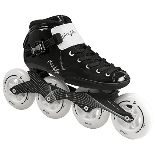 - Playlife Youth Powerslide Performance Inline Speed Skates - Glass-Fiber Heat Moldable (EU 40 / Adult 7.5)