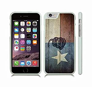 Case Cover For SamSung Galaxy S4 Mini with Texas Flag Wooden Grunge w/ Don't Tread on Me Snake Design Snap-on Cover, Hard Carrying Case (White)