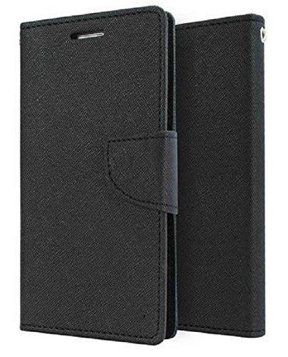 Thinkzy Artificial Leather Flip Cover for Xiaomi Mi Redmi 3S Prime  Black