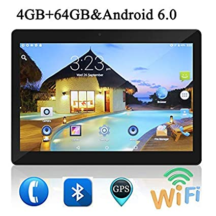 10 Pulgadas Tablet PC Android 6.0 4 GB de RAM 64GB ROM Octa Core 8 ...