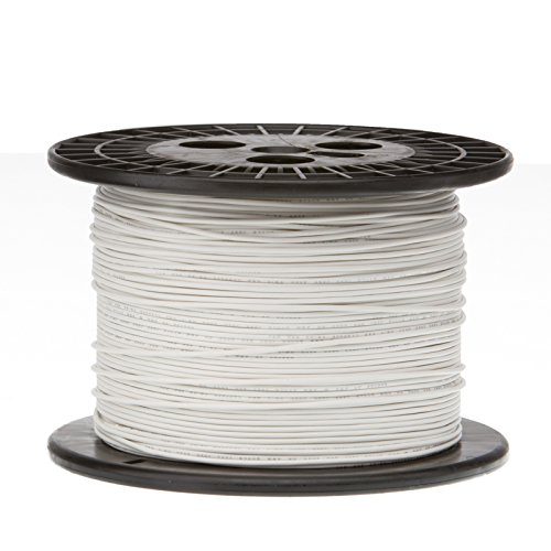 Remington Industries 22UL1007STRWHI1000 22 AWG Gauge Stranded Hook Up Wire, 1000 feet Length, White, 0.0253'' Diameter, UL1007, 300 Volts