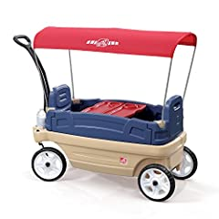 The Step2 Whisper Ride Touring Wagon is a 3-in-1 wagon that little ones and parents will enjoy! Kids can sit in the wagon during walks in the park and take nap when it's turned into a flat-bed. The Whisper Ride Touring Wagon also serves for p...