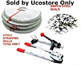 Shop-Tek / C-H Complete Packaging STRAPPING TOOL KIT + 400 Seals + 4 Banding Rolls 690 ft. CZSTK - Sold by Ucostore Only