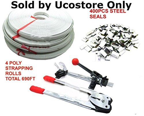 Shop-Tek / C-H Complete Packaging STRAPPING TOOL KIT + 400 Seals + 4 Banding Rolls 690 ft. CZSTK - Sold by Ucostore Only by ucostore