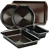 Circulon 5 Piece Symmetry Non-Stick Bakeware Set, Chocolate