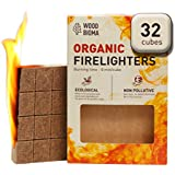 Woodbioma Organic Firelighters stove 32 cubes, Fire Starter Duraflame, Charcoal, Kamado Joe, Big Green Egg, Kindle Fire Fireplace, Logs, Primo Smoker, BBQ, Barbecue, Pizza oven, Waterproof