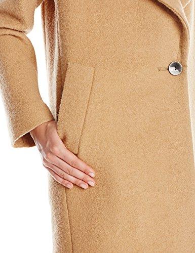 Kensie Women's Wool Cocoon Coat, Camel, Small
