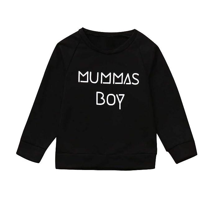 Rawdah_Conjunto Bebe NiñO Invierno Blusas Bebe NiñO Sudaderas Bebe NiñO Toddler Kids Baby Boy Girl Carta Sudadera Pullover Camiseta Tops Ropa Outfit: ...