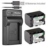 Kastar 2X Battery + Slim USB Charger for JVC BN-VG121 BNVG121 BN-VG107 BN-VG107U BN-VG108E BN-VG108U BN-VG114 BN-VG114AC VG114E VG114U VG121AC VG121E VG121U BN-VG138 VG138E VG138U GZ EX310 HM890 MG980