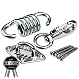 Hammock Chair Hanging Kit, Load Capacity 600 lb, Stainless Steel Hammock Spring, Swivel Hook, Ceiling Mount Set for Punching Bag Hammock Swing Chair Indoor Outdoor Relaxation For Sale