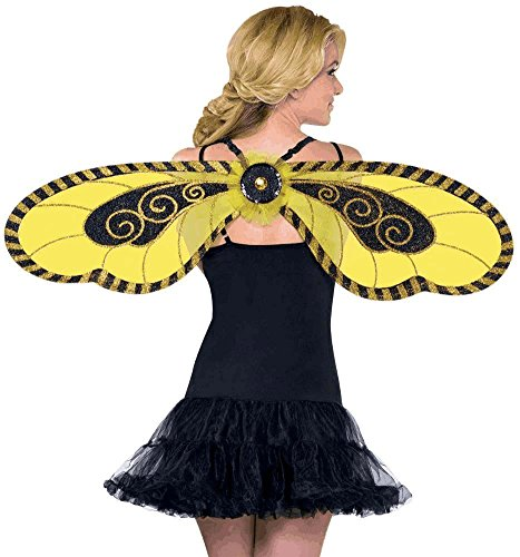 Bumble Bee Wings Womens (Diy Old Lady Halloween Costume)