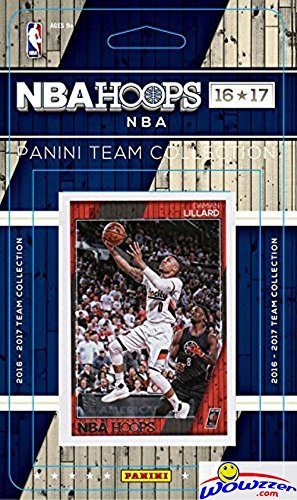 Portland Trail Blazers 2016/2017 Panini Hoops NBA Basketball Brand New Factory Sealed Complete Licensed Team Set Featuring Damian Lillard,Evan Turner & More! Shipped in Bubble Mailer!