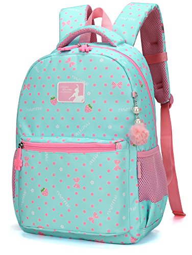 ArcEnCiel Baby Girls Princess Backpack School Bookbag (Blue) (Strips Polyester Carrier)