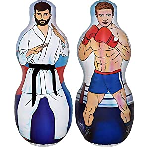 Well-Being-Matters 511dCTLcZrL._SS300_ Inflatable 5 Foot Tall Karate and Boxing Punching Bag   Two Sided Bop Bag for Boys, Girls and Kids of All Ages