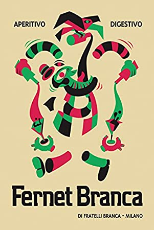 Fernet Branca POSTER Alligator Aperitive Digestivo Liquor Drink Milano Milan Italy Italia Vintage Poster Repro 12 X 16 Image Size We Have Other