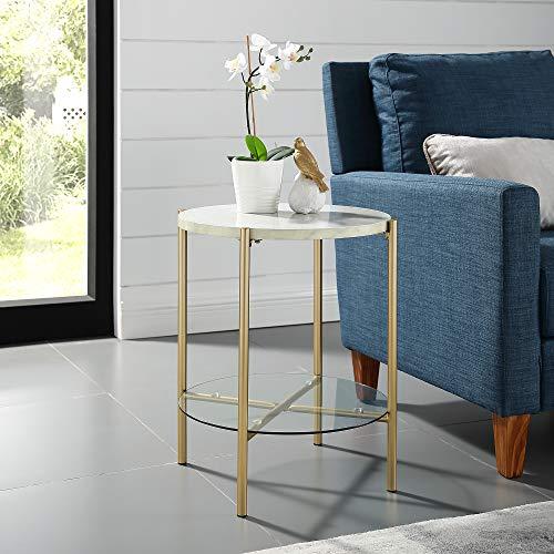 WE Furniture AZF20SRDSTMGD Side Table 20