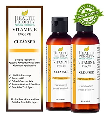 100% Natural Vitamin E Facial Cleanser. Best ever face wash for dry to oily skin.