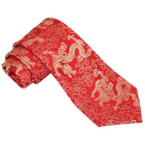 Mumusung Chinese Style Dragon Pattern Men's Necktie ()