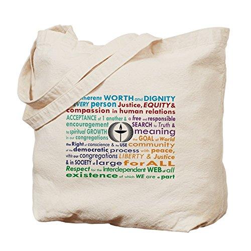 CafePress–UU 7principios–Gamuza de bolsa de lona bolsa, bolsa de la compra