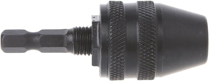 AK 0.5-8mm 1/4 Inch Vástago Hexagonal Taladro sin Llave Destornillador Chuck Destornillador Adaptador de Impacto