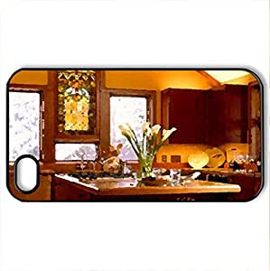 kitchen_style - Case Cover for iPhone 4 and 4s (Watercolor style, Black)