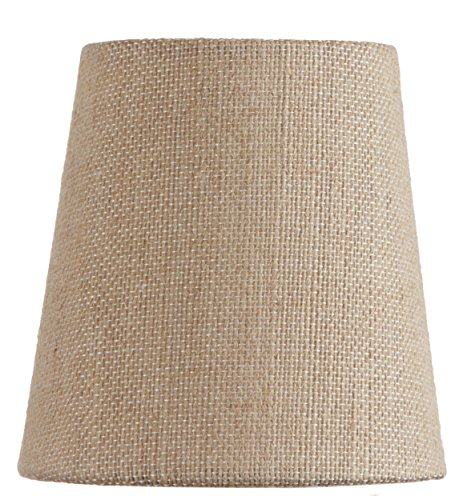 Mini Chandelier Shade Clip On Small Lamp shade Beige linen