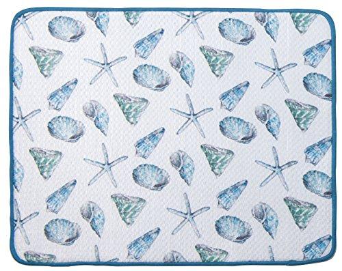 Kay Dee Designs Beach House Inspirations Seashell Microfiber Countertop Drying Mat (Beach House Design)