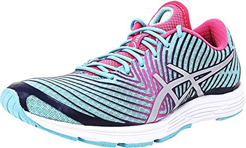 ASICS Women's Gel-Hyper Tri 3 Running Shoe, Aqua Splash/Silver/Indigo Blue, 6 M - Sl Running Co