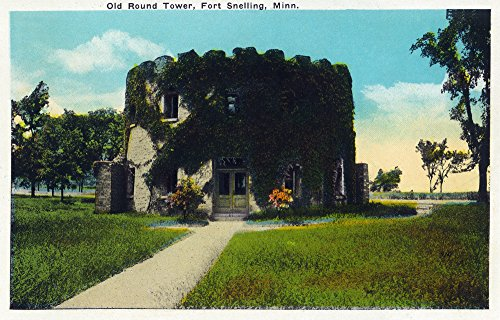 Snelling Round Print - Fort Snelling, Minnesota - Exterior View of the Old Round Tower (24x36 SIGNED Print Master Giclee Print w/Certificate of Authenticity - Wall Decor Travel Poster)
