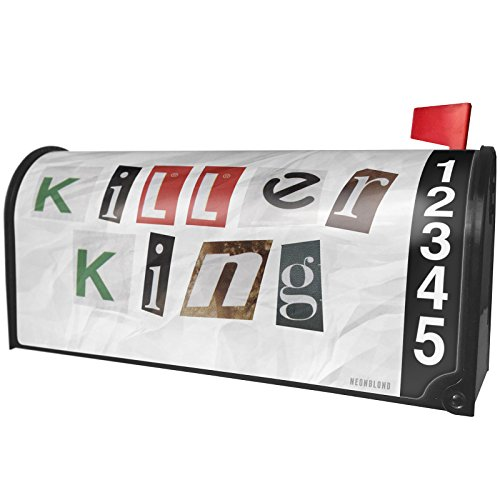NEONBLOND Killer King Ransom Blackmail Letter Magnetic Mailbox Cover Custom Numbers