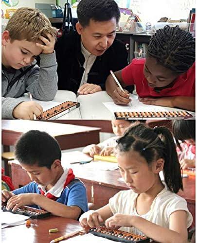 Abacus Chinese Vintage 13-stellige Abacus Mathematical Soroban Kinder Mathematik Berechnungswerkzeug f/ür Kinder Berechnen und Rechnen Mathematikunterricht