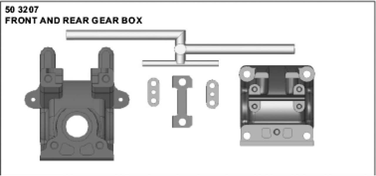 Jamara Jamara503207 X1 Sp+Pro Front//Rear Gear Case