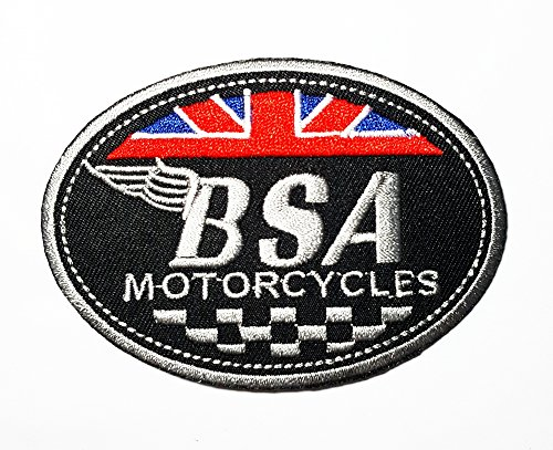 BSA British Classic Motorcycle Club Band Logo Patch Sew Iron on Embroidered Badge Sign Costume Gift