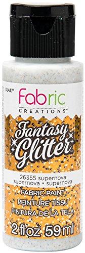 (Fabric Creations 26355 Fantasy Glitter Fabric Ink Paint, 2 oz Supernova)