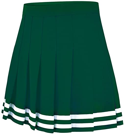 double knit knife pleat skirt forest green youth s