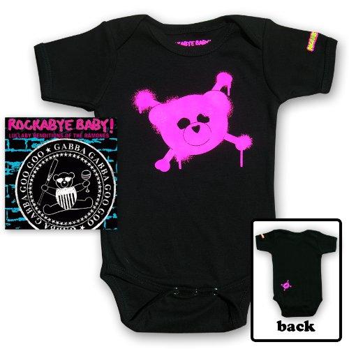 Rockabye Baby! Lullaby Renditions of The Ramones + Organic Baby Bodysuit (Pink)