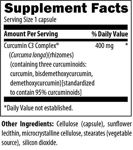Designs for Health C3 Curcumin Complex - 95% Curcuminoids, 400mg from 3 Turmeric Curcuminoids (60 Capsules) by designs for health (Image #1)