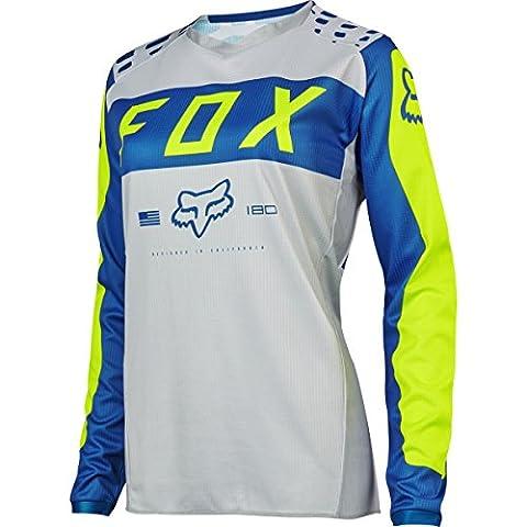 2017 Fox Racing Womens 180 Jersey-Grey/Blue-M - Women Off Road Jerseys