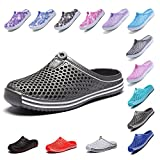 OUYAJI Garden Clog Beach Shoes Water Slippers Walking Womens Summer Breathable Mesh Sandals 407Gray-38