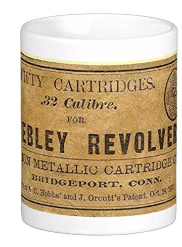 Reproduction of Vintage Ammo Box for Webley Revolver .32 Calibre on 11 Oz. Ceramic Coffee Mug