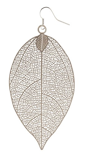 Leaf Design Earrings - 3.75