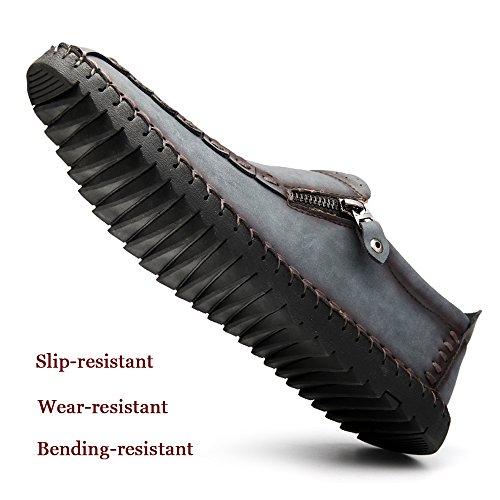 Casual Outdoor On Summer Driving Men's Fashion Shoes Slip CEKU Khaki Walking Flat Light Loafers wI6gq8qHx