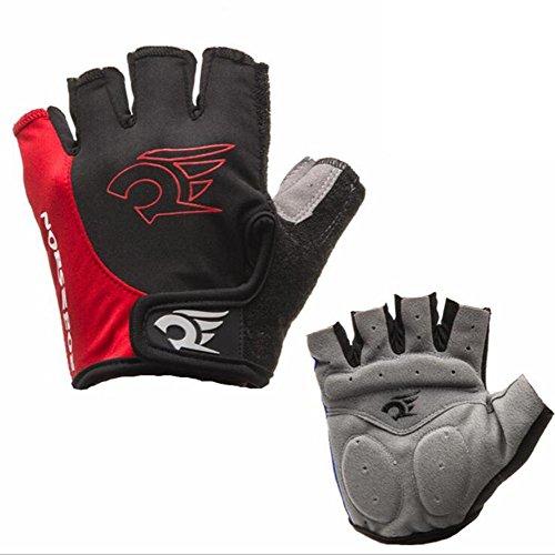 LZH Anti-dérapant bicyclette gants à doigts respirant pour l'extérieur, vélo, équitation, moto, randonnée