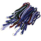 Durable Braided Poly Slip Leads, Animal Control Kennel 5 FT Slip Leads, Strong Leashes for Dogs, Grooming, Shelter, Rescues, Vet, Veterinarian, Doggy Daycare or Pet Training (12 Pack)