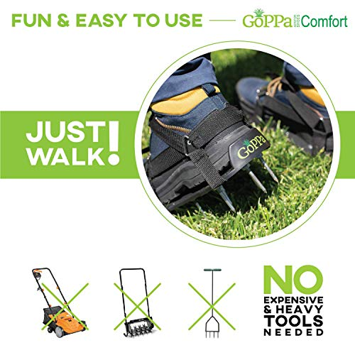 GoPPa Lawn Aerator Shoes – Easiest to USE Lawn Aerator Sandal, You only FIT Once. Ready for aerating Your Yard, Lawn, Roots & Grass – Comfort Design by GoPPa (Image #5)